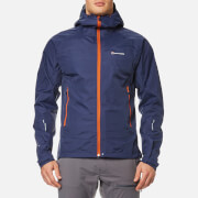 Montane Men's Atomic Rain Shell Jacket - Antarctic Blue/Tangerine