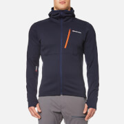 Montane Men's Power Up Hooded Fleece - Antarctic Blue/Tangerine