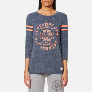 Superdry Women's Trackster Baseball Top - Estate Blue Snowy