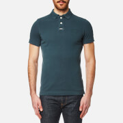 Superdry Men's Vintage Destroy Pique Polo Shirt - Petrol Blue