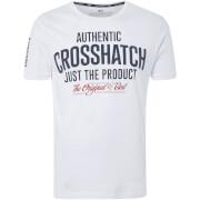 T-Shirt Homme s Logo Greendale Crosshatch - Blanc