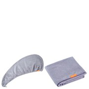 Aquis Lisse Luxe Hair Turban and Hair Towel - Cloudy Berry Bundle (Worth £60)