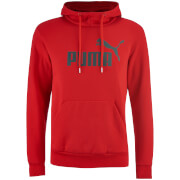 Puma Men's Essential Logo Hoody - Cherry