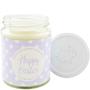 Happy Easter Lilac Polka-Dot Bunny Kisses Candle