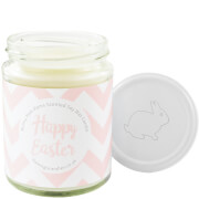 Happy Easter Pink Chevron Bunny Pom-Pom Candle