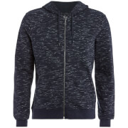 Brave Soul Men's Territory Zip Through Hoody - Navy