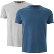 Lote de 2 camisetas Brave Soul Vardan - Hombre - Gris/azul