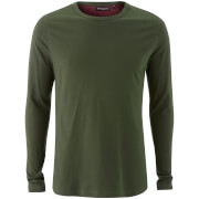 Brave Soul Men's Prague Long Sleeve Top - Khaki