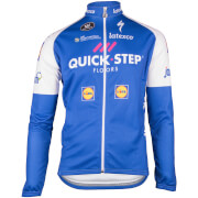 Quick-Step Kids' Long Sleeve Jersey - Blue/White