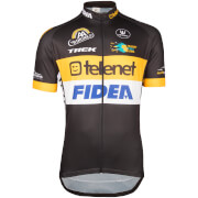 Telenet Fidea Short Sleeve Jersey - Black/Yellow/White
