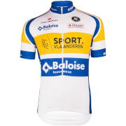 Sport Vlaanderen Short Sleeve Jersey - White/Blue/Yellow