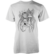 Abandon Ship Men's Jesus and Devil T-Shirt - White