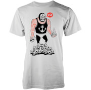 Abandon Ship Men's Taco Wrestler T-Shirt - White