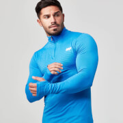 Myprotein Men's Seamless ¼ Zip Top - Black Marl