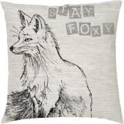 Stay Foxy Fox Kissen - Grau (45 x 45cm)