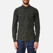 BOSS Orange Men's Erodeo Western Oxford Shirt - Dark Green