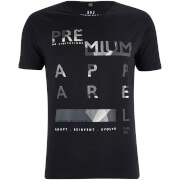 T-Shirt Homme Algebraic Smith & Jones -Noir