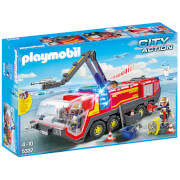Playmobil City Action Airport Fire Engine with Lights and Sound (5337)