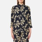 Ganni Women's St Pierre Crepe Shirt - Total Eclipse