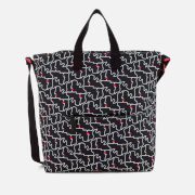 Lulu Guinness Women's Kissing Lips Romy Tote Bag - Black/Chalk