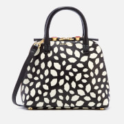 Lulu Guinness Women's Scattered Lips Bobbi Bag - Black/Chalk