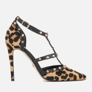 Dune Women's Daenerys T-Bar Court Shoes - Leopard