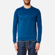 BOSS Green Men's Salbo Large Logo Sweatshirt - Open Blue