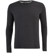 Brave Soul Men's Prague Long Sleeve Top - Charcoal