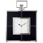Fifty Five South Churchill Leather Mantle Clock - Black