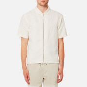Folk Men's Linen Zip Shirt - Off White