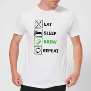 Beershield Eat Sleep Brew Repeat Men's T-Shirt