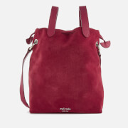 meli melo Women's Hazel Suede Drawstring Bag - Bordeaux