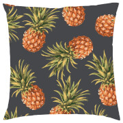 Tropical Pineapple Repeat Cushion - Black