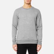 Puma Men's Archive Embossed Logo Crew Neck Sweatshirt - Medium Gray Heather