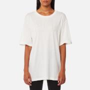 Puma Women's Fusion Elongated Short Sleeve T-Shirt - Marshmallow