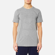 Puma Men's Archive Embossed Logo Short Sleeve T-Shirt - Medium Grey Heather