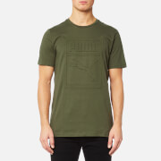 Puma Men's Archive Embossed Logo Short Sleeve T-Shirt - Olive Night