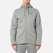 Puma Men's Evo Core Full Zip Hoody - Medium Grey Heather