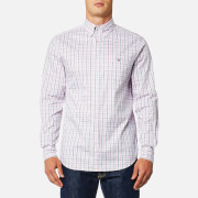 GANT Men's Oxford Check Button Down Shirt - California Pink