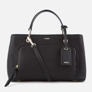 DKNY Women's Pebble Leather Small Satchel Bag - Black