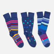 Paul Smith Men's 3 Pack Socks - Black/Multi