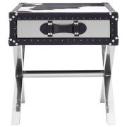 Fifty Five South Kensington Townhouse Table - Black/White Cowhide