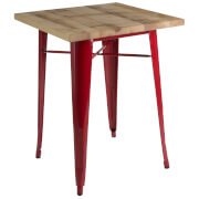 Fifty Five South Aldgate Table - Red Powder Coated Finish