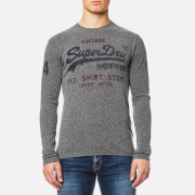 Superdry Men's Shirt Shop Duo Long Sleeve T-Shirt - Dark Grey Snowy