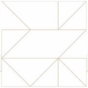 Kelly Hoppen Geo Geometric Metallic Wallpaper - Gold
