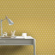 Superfresco Easy Triangolin Geometric Wallpaper - Mustard