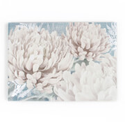 Art For The Home Teal Bloom Floral Metallic Printed Canvas Wall Art