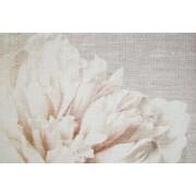 Art For The Home Cream Petals Fabric Canvas Wall Art