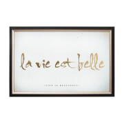 Art For The Home La Vie Est Belle Metallic Framed Wall Art