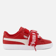 Puma Women's Basket Heart Trainers - Toreador/Puma White